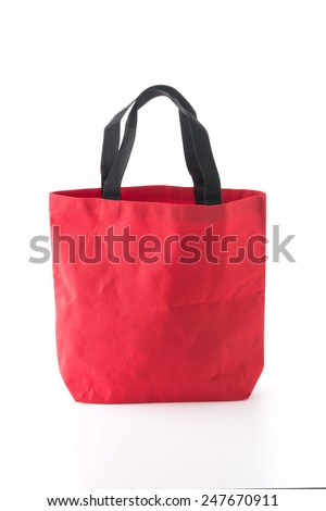 red bag on white background - stock photo