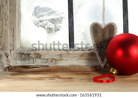red ball and love  - stock photo
