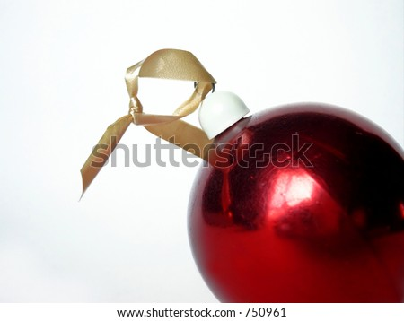 Red ball with a knot;Christmas ornament