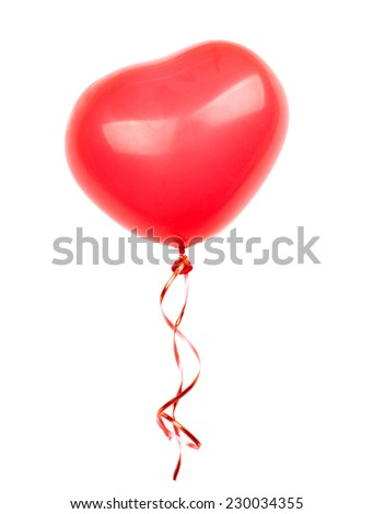 red balloon on a white background