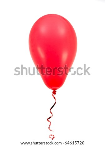 Red balloons isolated against a white background - stock photo