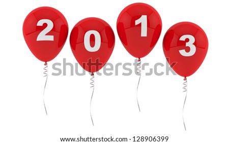 Red Balloons 2013 - New year