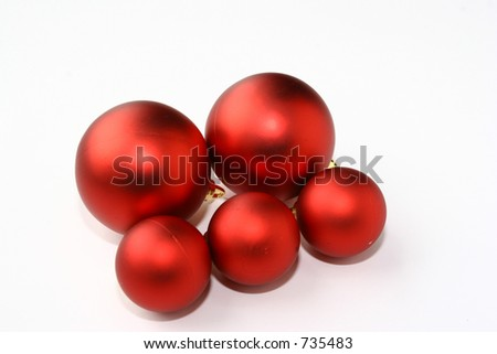 red balls - stock photo