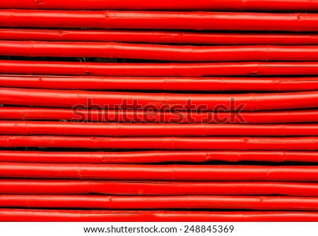 red bamboo background - stock photo