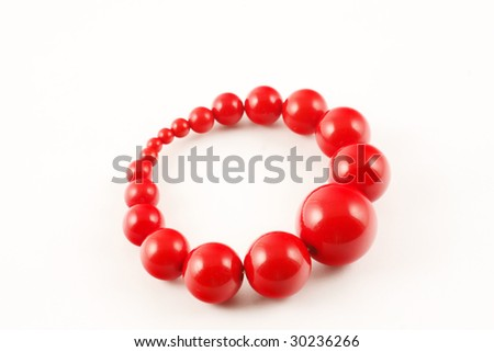 red bangle - stock photo