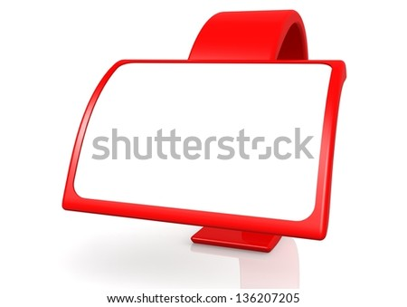 Red banner - stock photo