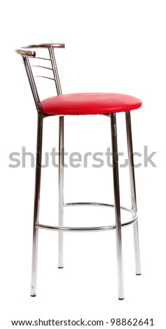 red bar chair isolated on white