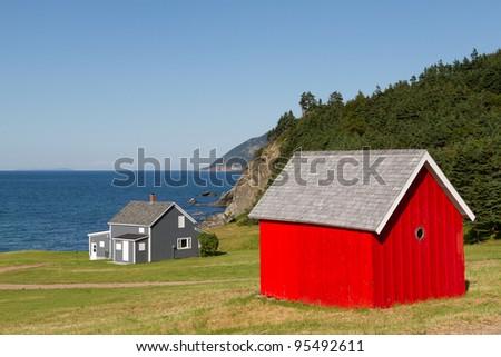 Red Barn - stock photo