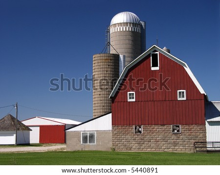 Red Barn and sheds on the farm