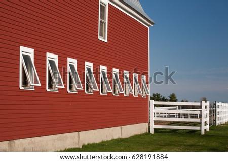 Red Barn Open Windows Horizontal Stock Photo 628191884 - Shutterstock
