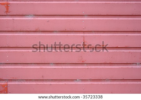 Red barn wood, faded - stock photo