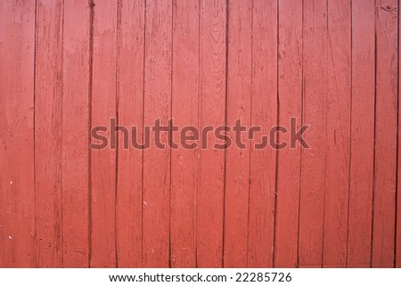 Red barn wood image for use as background - stock photo