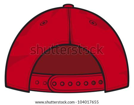red baseball cap back - stock photo