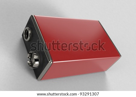 Red Battery - stock photo