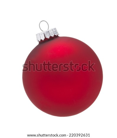 Red Bauble isolated - stock photo