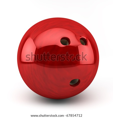 red bawling bal - stock photo