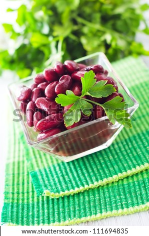 red bean - stock photo