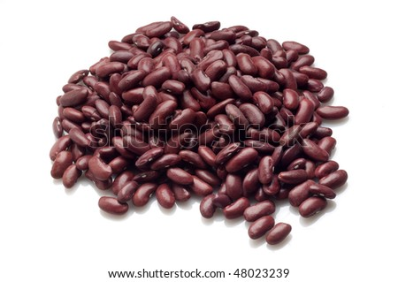 red beans on white - stock photo
