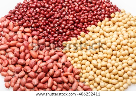 Red beans, peanuts and soybeans of agricultural products