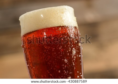 Red Beer Close Up - stock photo