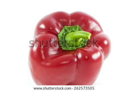 Red bell peppers or capsicum isolated on white background