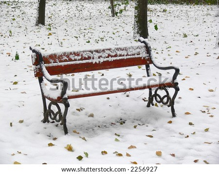 Cast Iron Wood Vintage Park Bench Stock Photo 25092862