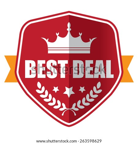 red best of the best 100% guarantee sticker, sign, stamp, icon, label isolated on white - stock photo