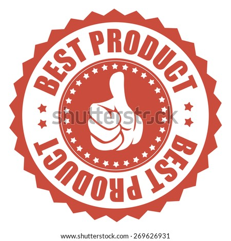 red best product sticker, tag, sign, icon, label isolated on white