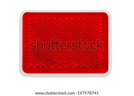 Red bicycle Reflectors isolate on white background - stock photo