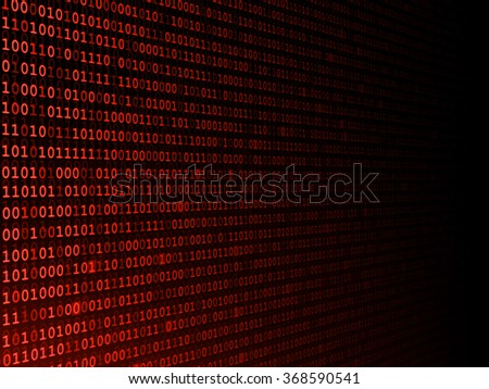 Red binary background fading to the right  - stock photo