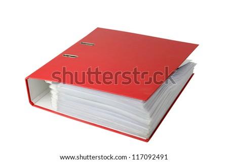 Red binder - stock photo
