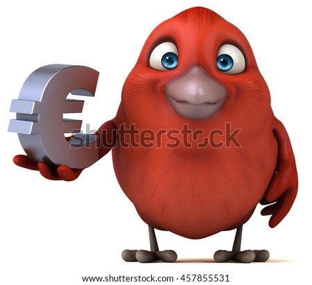 Red bird - stock photo