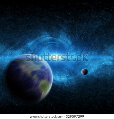 Red black hole sucking up the planet Earth 'elements of this image furnished by NASA'