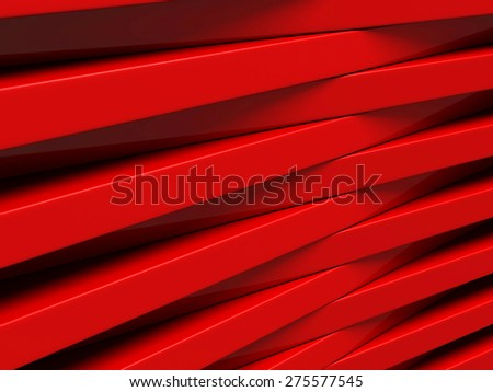 Red Blocks Abstract Geometric Futuristic Background. 3d Render Illustration - stock photo