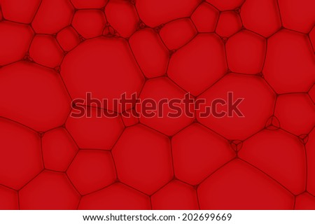 red blood background from the cells or bubbles - stock photo