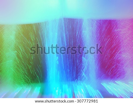 Red, blue and green background with reflections and lights - stock photo