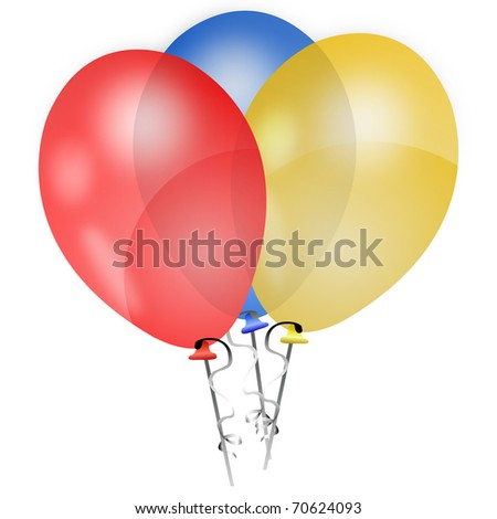 Red, Blue and Yellow Balloons