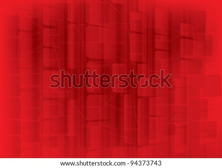 red bokeh abstract light background -  illustration - stock photo