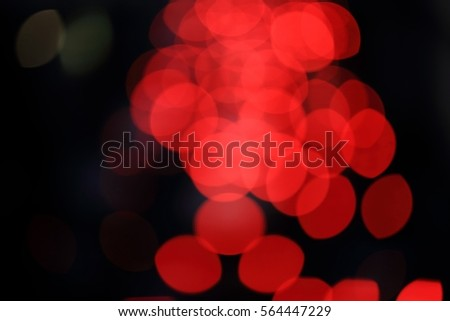 Red Bokeh in Black Background