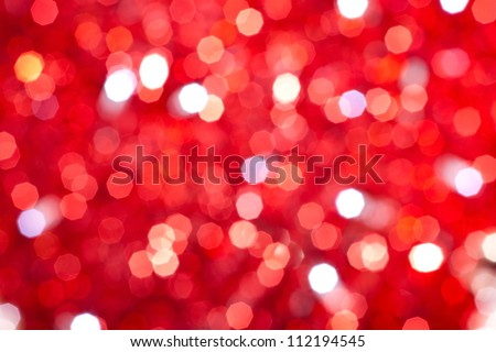 red bokeh lights background - stock photo