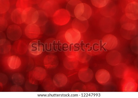 Red Bokeh of Lights - stock photo