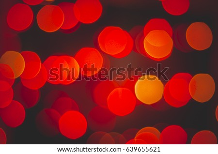 Red bokeh on a black background