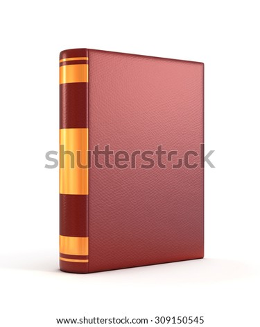 red book cover 3d illustration - stock photo