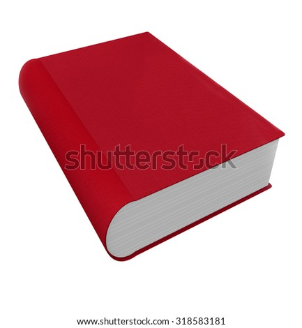 Red book cover in 3d as a novel, non-fiction, advice or self help manual - stock photo