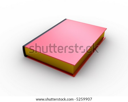 red book for your text (image can be used for printing or web) - stock photo