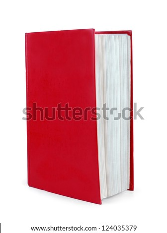 Red book in a white background - stock photo