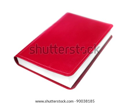 red book isolated on a white background