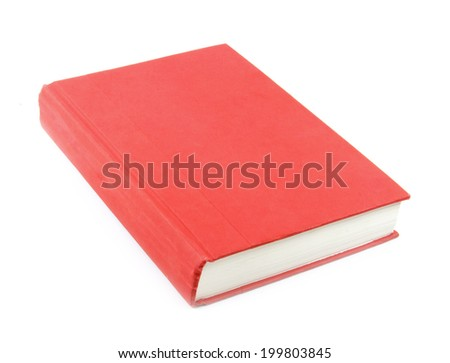 Red book isolated on white background. - stock photo