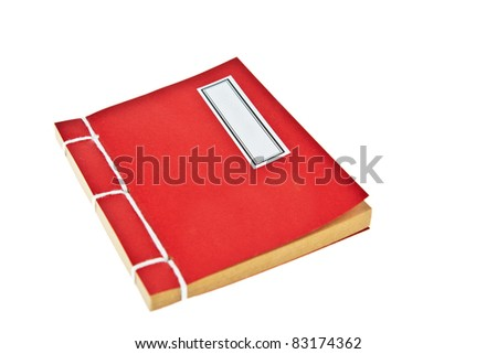 Red book isolated on white background - stock photo