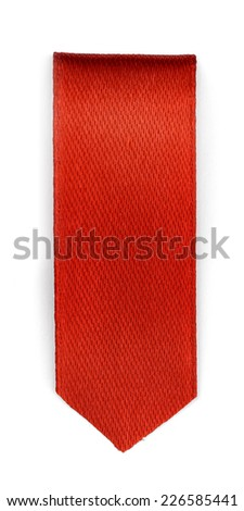 Red bookmark isolated on white background  - stock photo